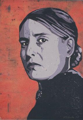<b>Anna Seghers</b> - Linoldruck von Thilo Weckmüller - anna-seghers